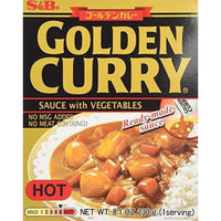 S&B Golden Curry Sauce with Vegtables, Hot, 8.1-Ounce Boxes (Pack of 5)-Soyum Foods