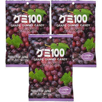 Kasugai Grape Gummy Candy 3.77oz (3 Pack)-Soyum Foods