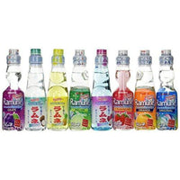 Ramune Japanese Marble Soft Drink Mix Variety 8 Flavors 8 Bottles by Hata Shanderia-Soyum Foods