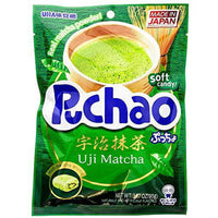 UHA Mikakuto Japan Puccho Puchao Soft Candy with Gummy Bits, Green Tea Uji Matcha Flavor, 3.17 Ounce-Soyum Foods