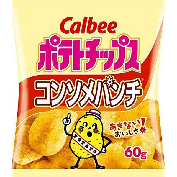 Calbee, Calorie 25%off Potato Chips, Consomme Flavor, Japanese Snack, Pack of 12 (Chicken Consomme soup, 50)-Soyum Foods