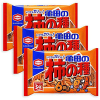 3 Packs Set of Kameda Kakinotane Rice Cracker with Peanuts 6 packs: total 200g (7.05oz) x 3 (Ninjapo Wrapping)-Soyum Foods