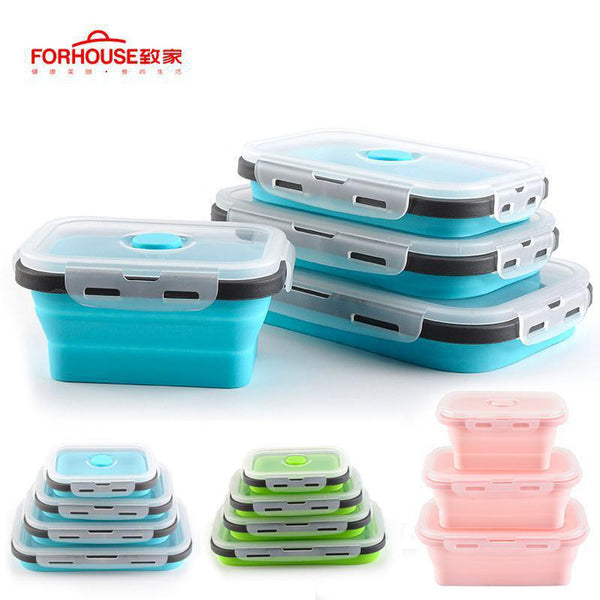 Silicone Collapsible Lunch Box-Soyum Foods