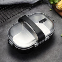 Japanese Portable 304 Stainless Steel Lunch Box-Soyum Foods