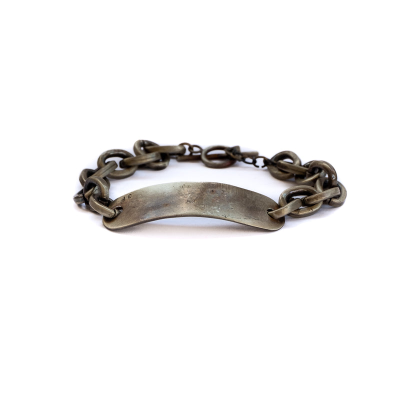 Grade. Handmade, ruthenium plated brass, men's bracelet. 3rd Floor Mens' Collection