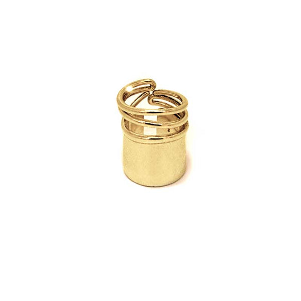 Snail Ring Big-Gold