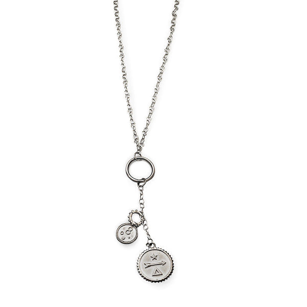 Zari Necklace-Silver