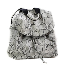 Load image into Gallery viewer,  back-bag kiara, leather bag black and white