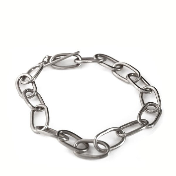 Silver, thick link, chain necklace by 3rd Floor