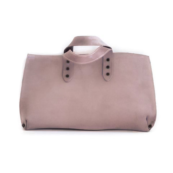 dusty pink leather bag mini jet made in greece
