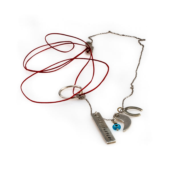 A New Chapter Red Necklace-Silver