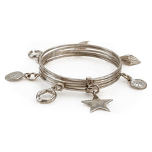 Load image into Gallery viewer, Bibelot. Handmade, silver plated brass, charm bracelet by 3rd Floor Handmade Jewellery