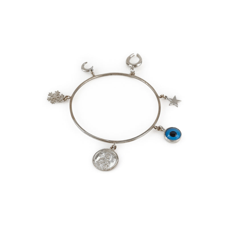 Domina. Handmade, charm bracelet, in silver plated brass. Discover it in 3rd Floors', Symbols Collection