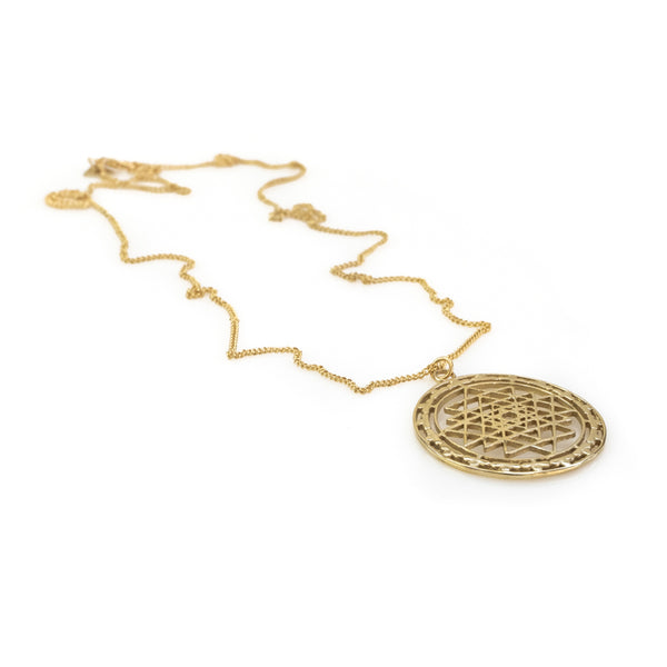 Ezra. Handmade, gold plated brass, necklace by 3rd Floor