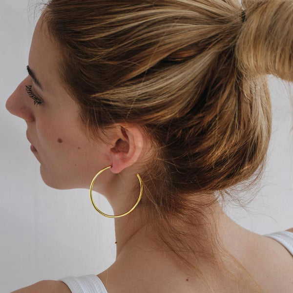 Hollow Small Earrings-Gold