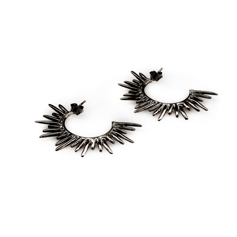 3rdfloor handmade jewellery Horizon earrings black