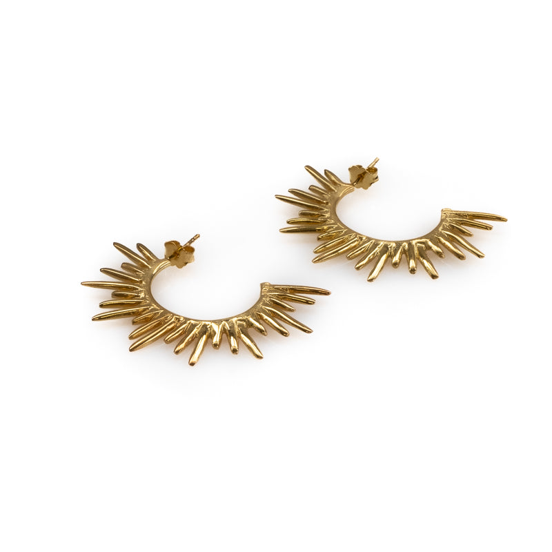 3rdfloor handmade jewellery Horizon earrings gold