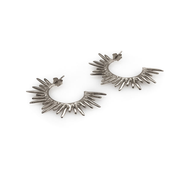 3rdfloor handmade jewellery Horizon earrings silver