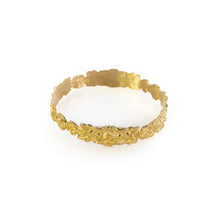 Load image into Gallery viewer, Photo of gold, Hyppolyta bracelet, with embossed, intertwined flowers