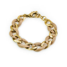 Load image into Gallery viewer, Kendra. Gold and bone, link bracelet. By 3rd Floor