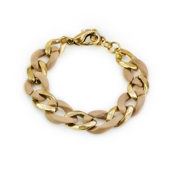 Kendra. Gold and bone, link bracelet. By 3rd Floor