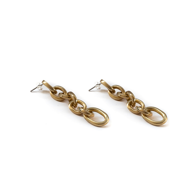 Lars long gold chain earrings