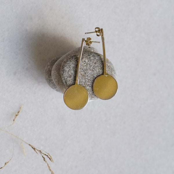 Luna Earrings-Gold