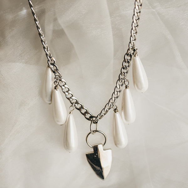 Nencia Necklace-Silver