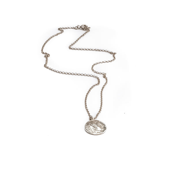 Phillip Coin Necklace-Silver