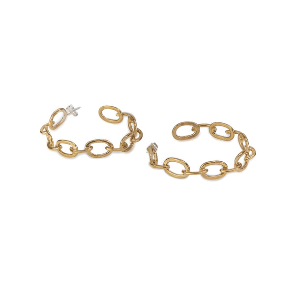 Quinn gold loop chain earrings