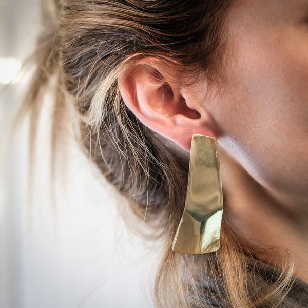 Skate Earrings-Gold