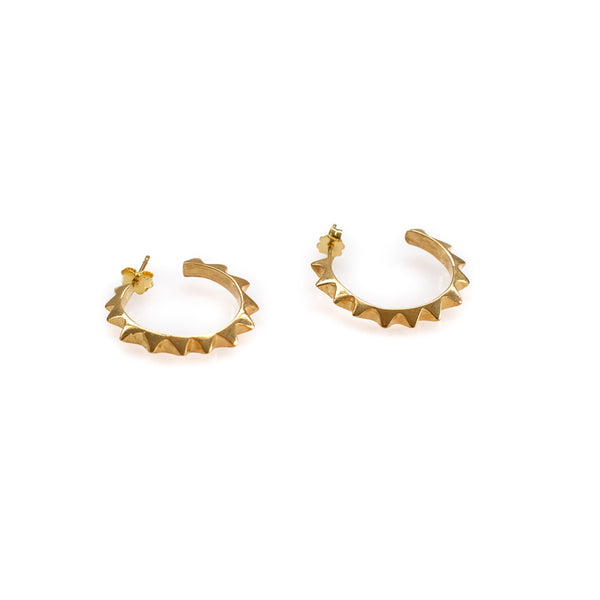 New York Earrings-Gold
