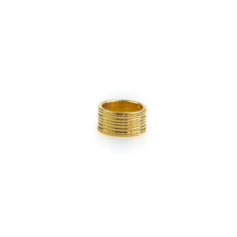 Verona. Handmade, gold plated ring, made in Athens Greece, by 3rd Floor Workshop