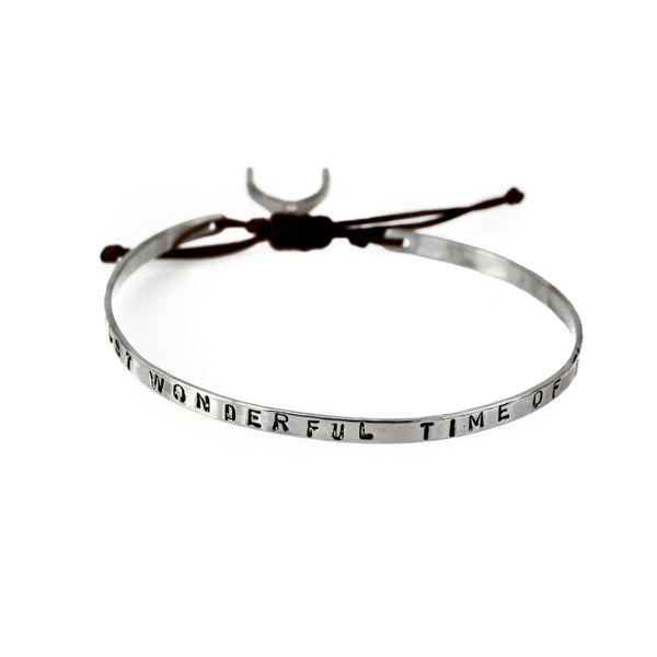 Most Wonderful Time Bracelet-Silver