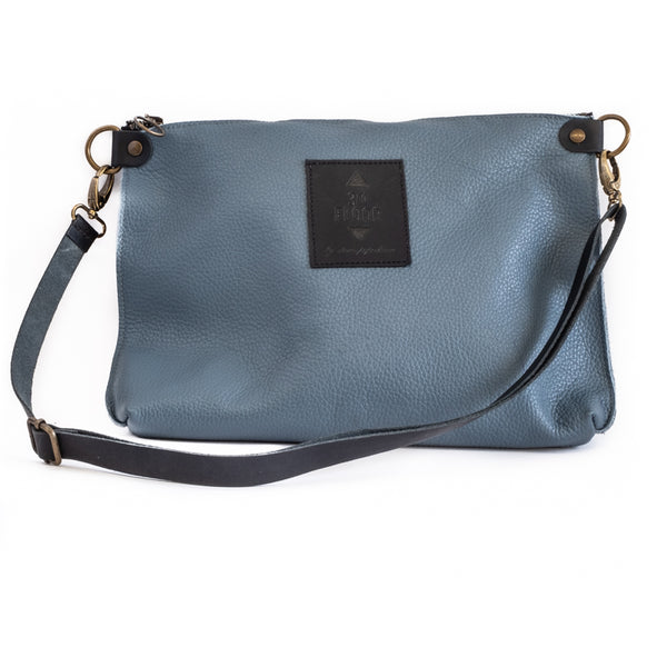 City Clutch-Blue-Grey