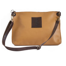 Load image into Gallery viewer, 3rdfloor handmade leather bags City clutch camel