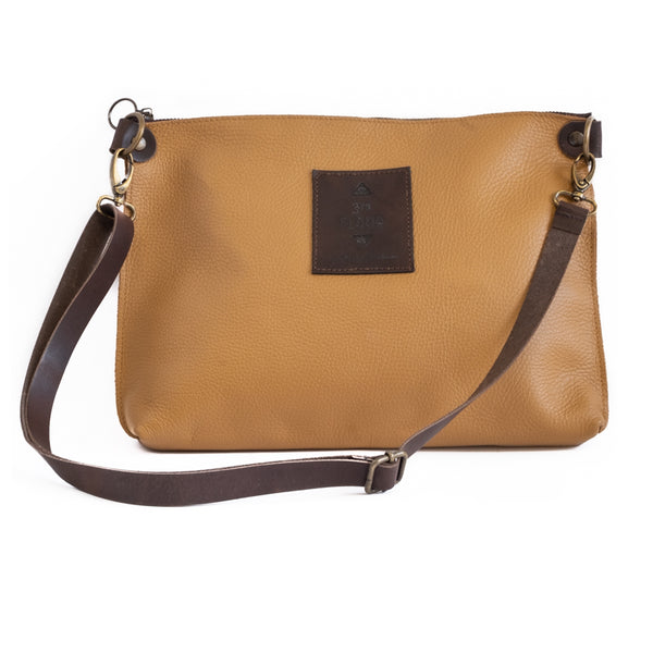 3rdfloor handmade leather bags City clutch camel
