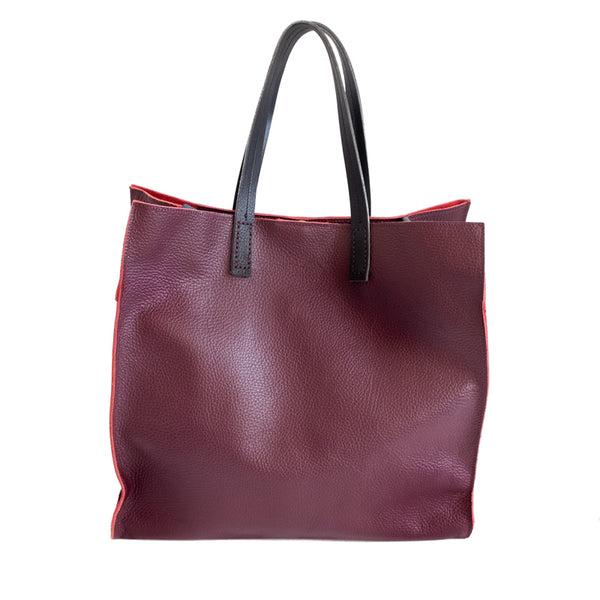3rd floor handmade leather bag Eden bag burgundy