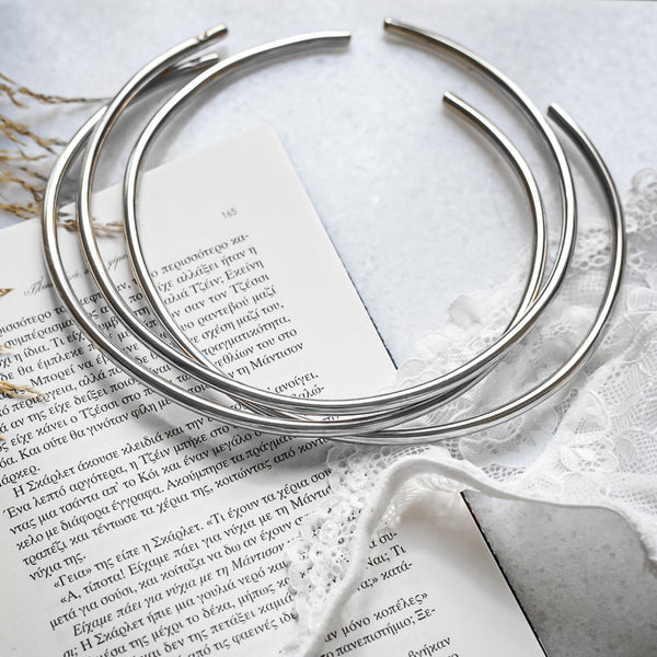 3 Rapture handmade collar neck pieces silver