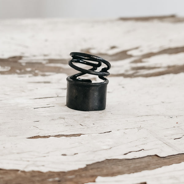 Snail Medium Ring-Black