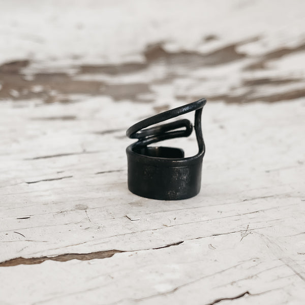 Snail Small  Ring-Black
