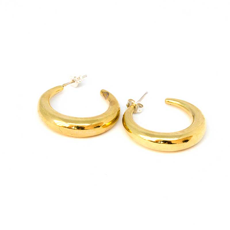 gold diaz earrings by 3rd-floor
