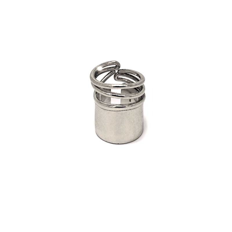 frond site, snail big ring silver