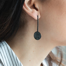 Load image into Gallery viewer, girl with handmade 3rd floor luna earpieces black