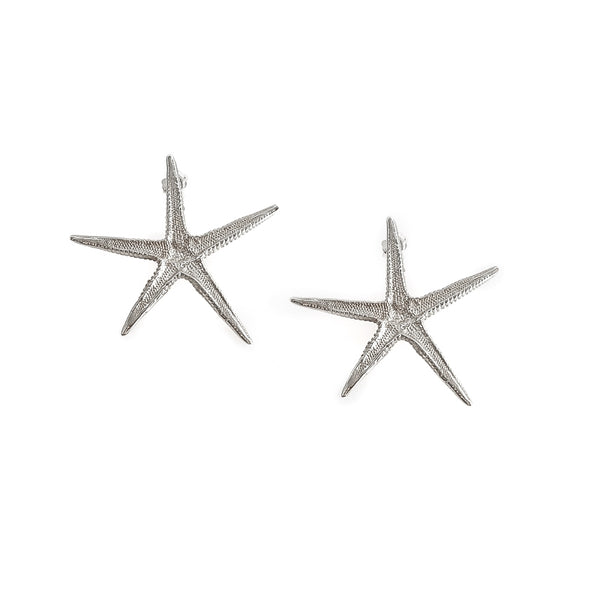 Starfish Earrings-Silver