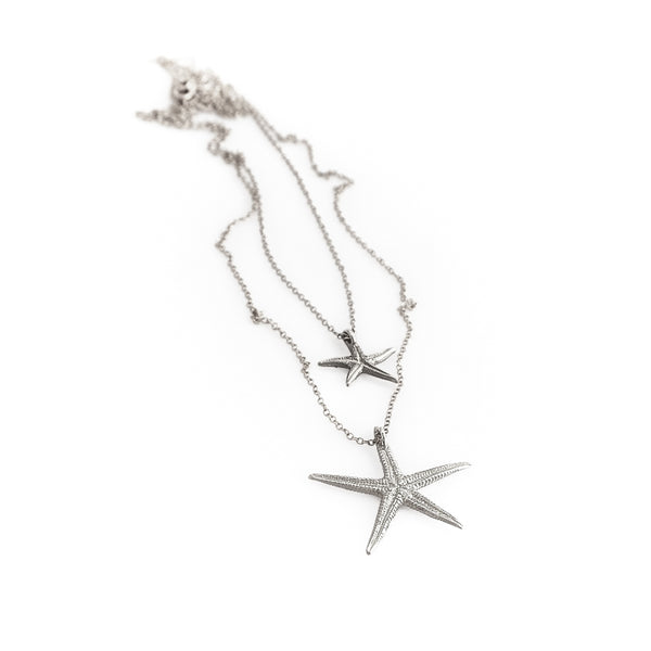 Starfish2 Necklace-Silver
