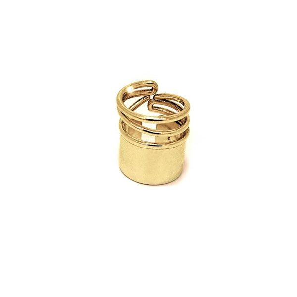 Snail Medium Ring-Gold