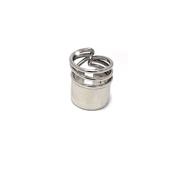 frond site, snail  medium ring silver