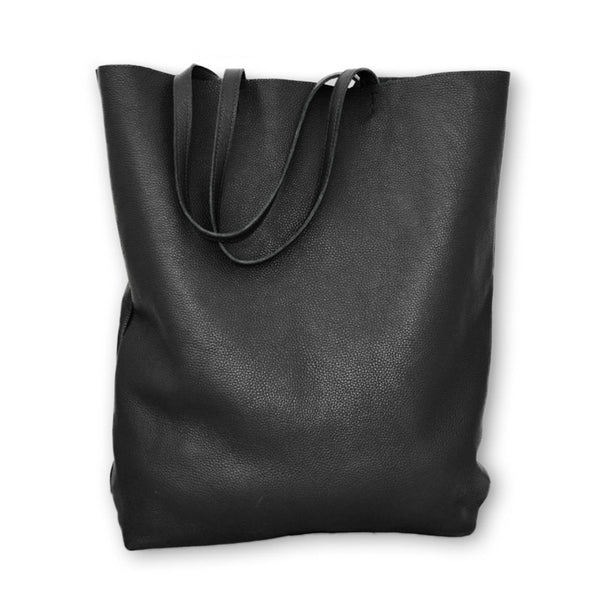 3rdfloor handmade leather giant bag black