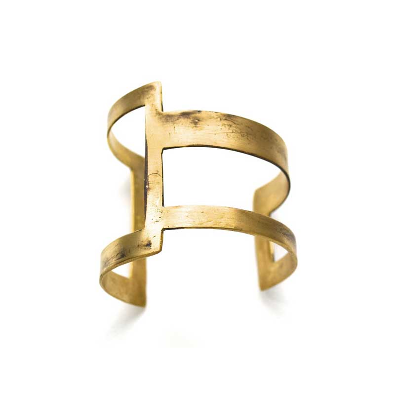 Square Cuff. Gold, handmade by 3rd floor